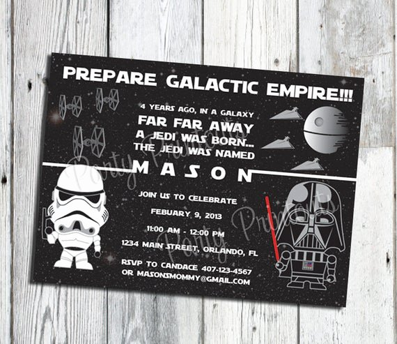 Star Wars Birthday Invitation Luxury Star Wars Invitation Printable Star Wars Party Invitations
