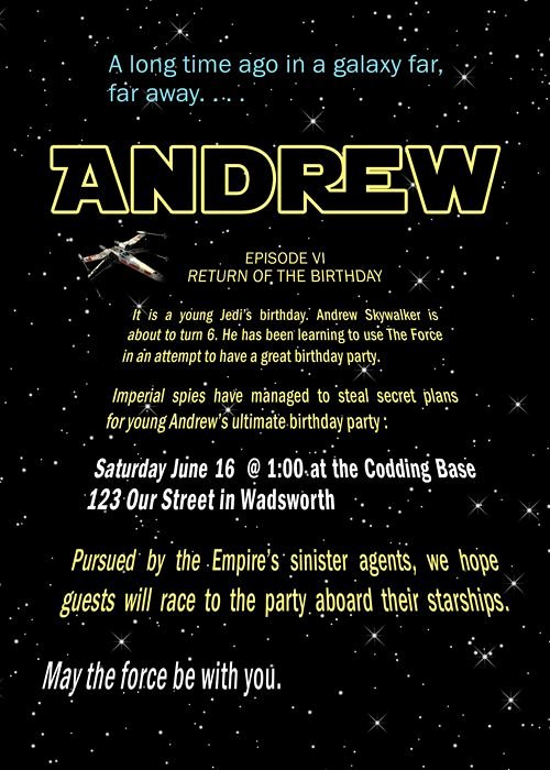 Star Wars Birthday Invitation New Free Printable Star Wars Birthday Party Invitations Templates