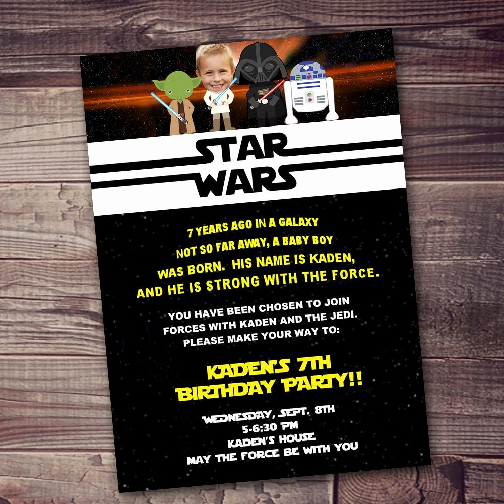 Star Wars Birthday Invitation Unique Fast Ship Star Wars Invitation Free Customization