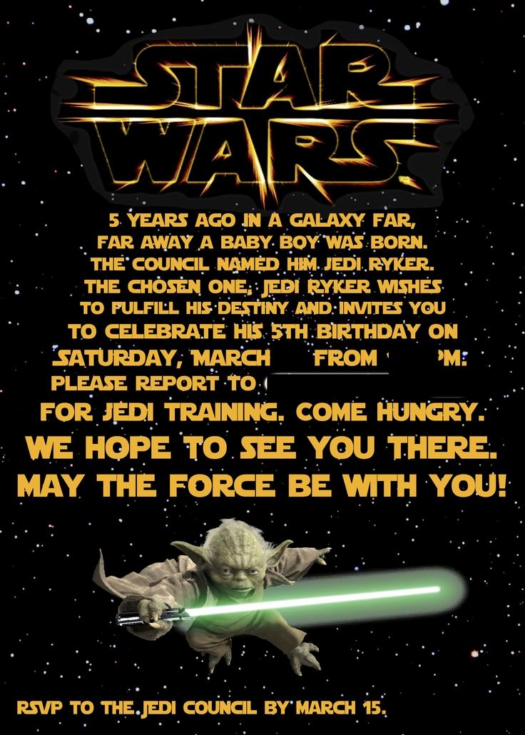 Star Wars Birthday Invitation Unique the 25 Best Star Wars Invitations Ideas On Pinterest