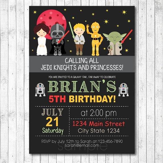 Star Wars Birthday Invitations Best Of Free Star Wars Birthday Invitations – Free Printable Birthday Invitation Templates – Bagvania