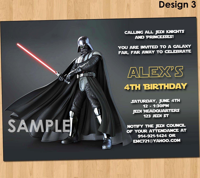 Star Wars Birthday Invitations Best Of Star Wars Invitation Star Wars Party Invitation Star Wars