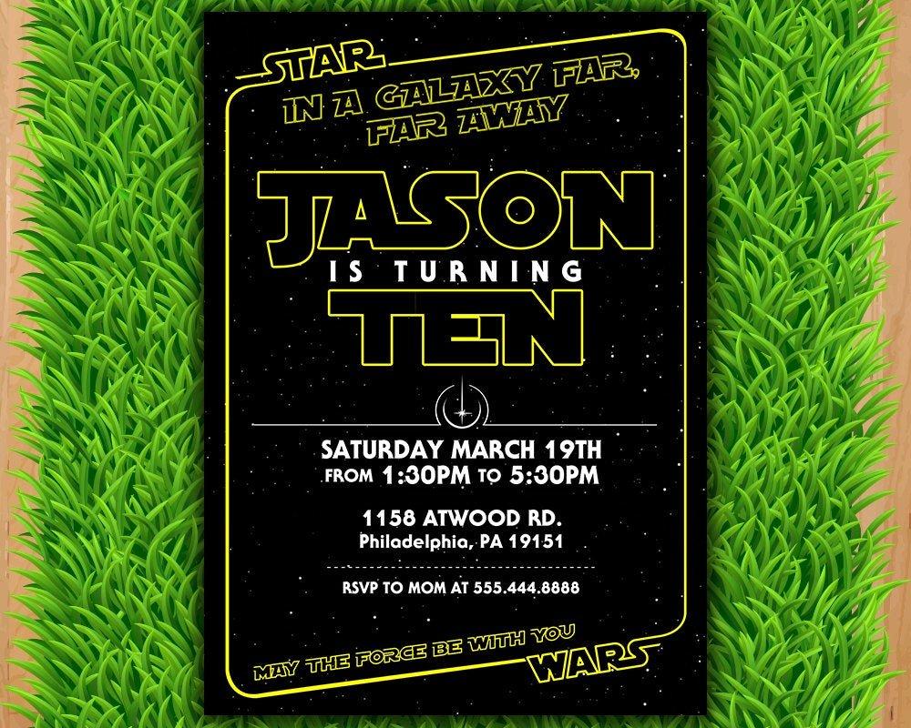 Star Wars Birthday Invitations Elegant Star Wars Invitation Star Wars Party Invitation Star Wars