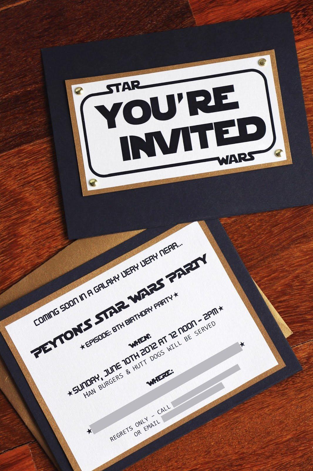 Star Wars Birthday Invitations Elegant the Contemplative Creative Star Wars Party Invitation