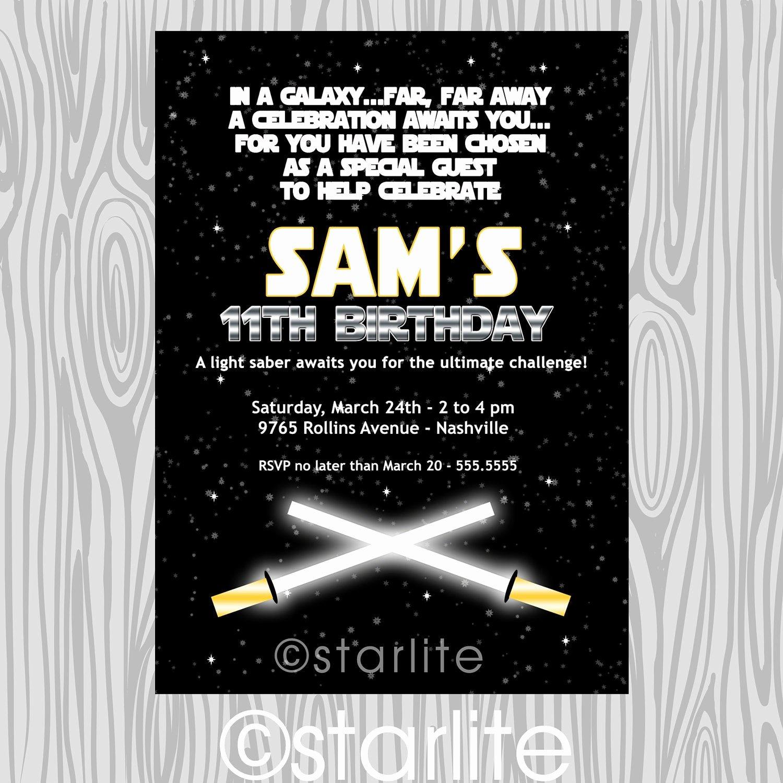 Star Wars Birthday Invitations Lovely Star Wars Inspired Star Wars theme Birthday Party by Starwedd