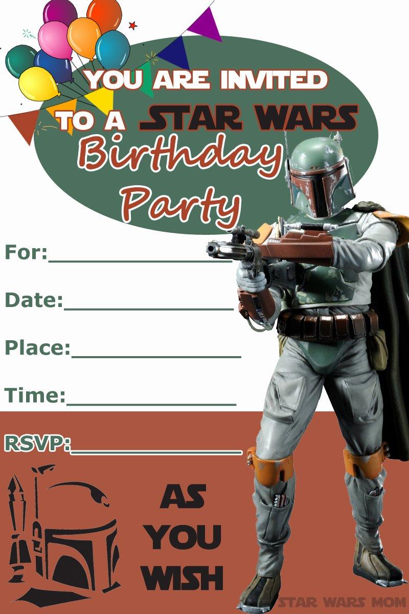 Star Wars Birthday Invite Fresh 32 Amazing Star Wars Birthday Invitations