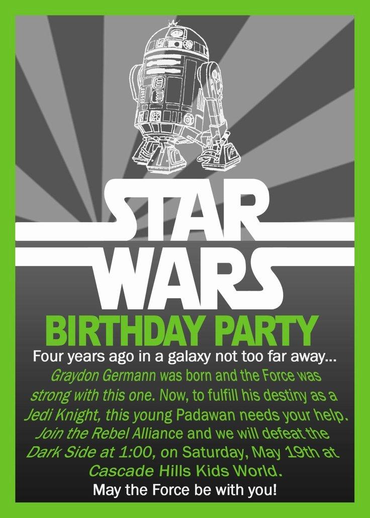 Star Wars Birthday Invite Fresh Star Wars Birthday Invitation $10 00 Via Etsy Ioni S 6th Birthday Party