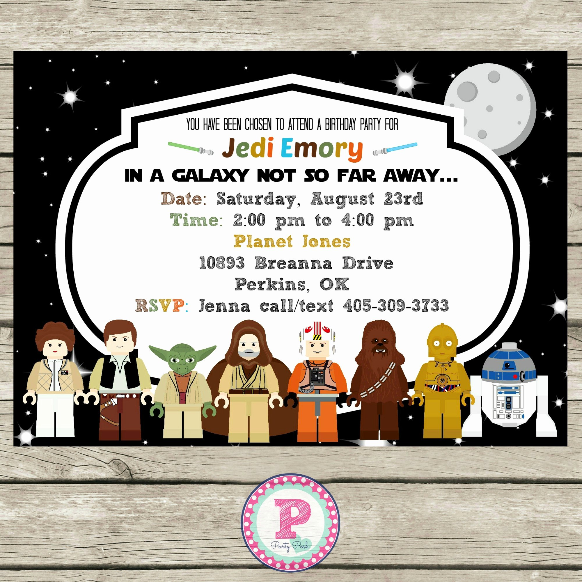 Star Wars Birthday Invite Fresh Star Wars Lego Birthday Party Ideas Invitations Props Printables and More