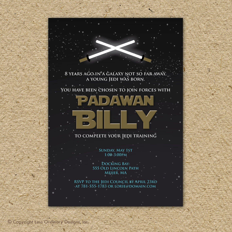 Star Wars Birthday Invite Luxury Star Wars Birthday Party Invitation Printable by Saralukecreative