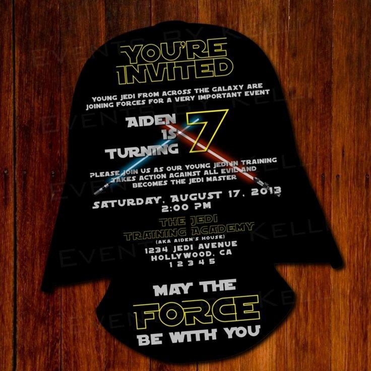 Star Wars Birthday Invites Beautiful 11 Best Star Wars Party Invitation Images On Pinterest