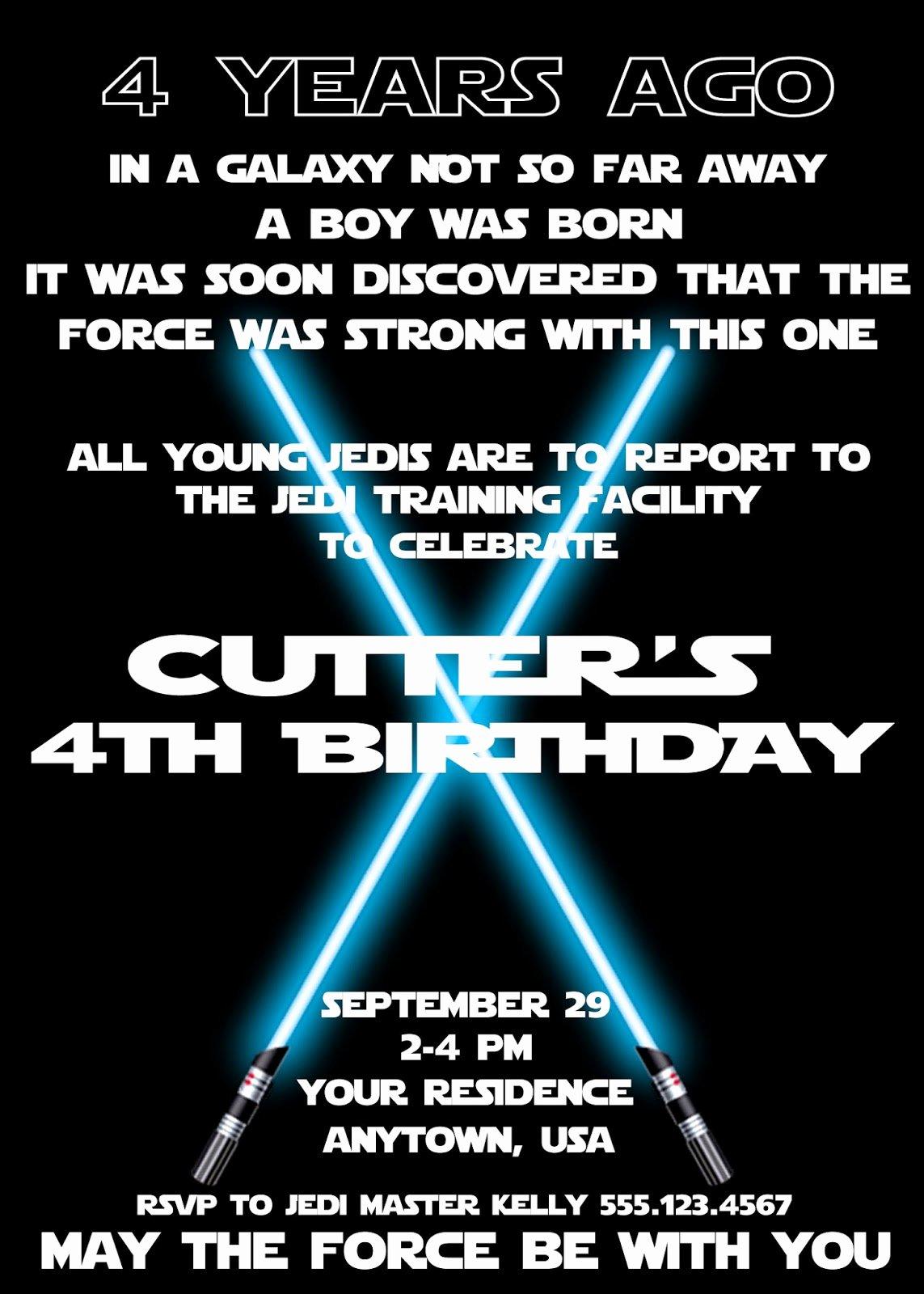 Star Wars Birthday Invites Elegant Plan An Amazing Star Wars Birthday Party