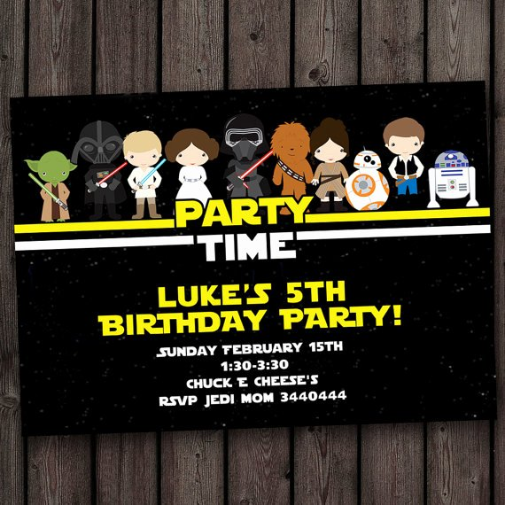 Star Wars Birthday Invites Fresh Star Wars Invitation Star Wars Birthday Invitations Fast