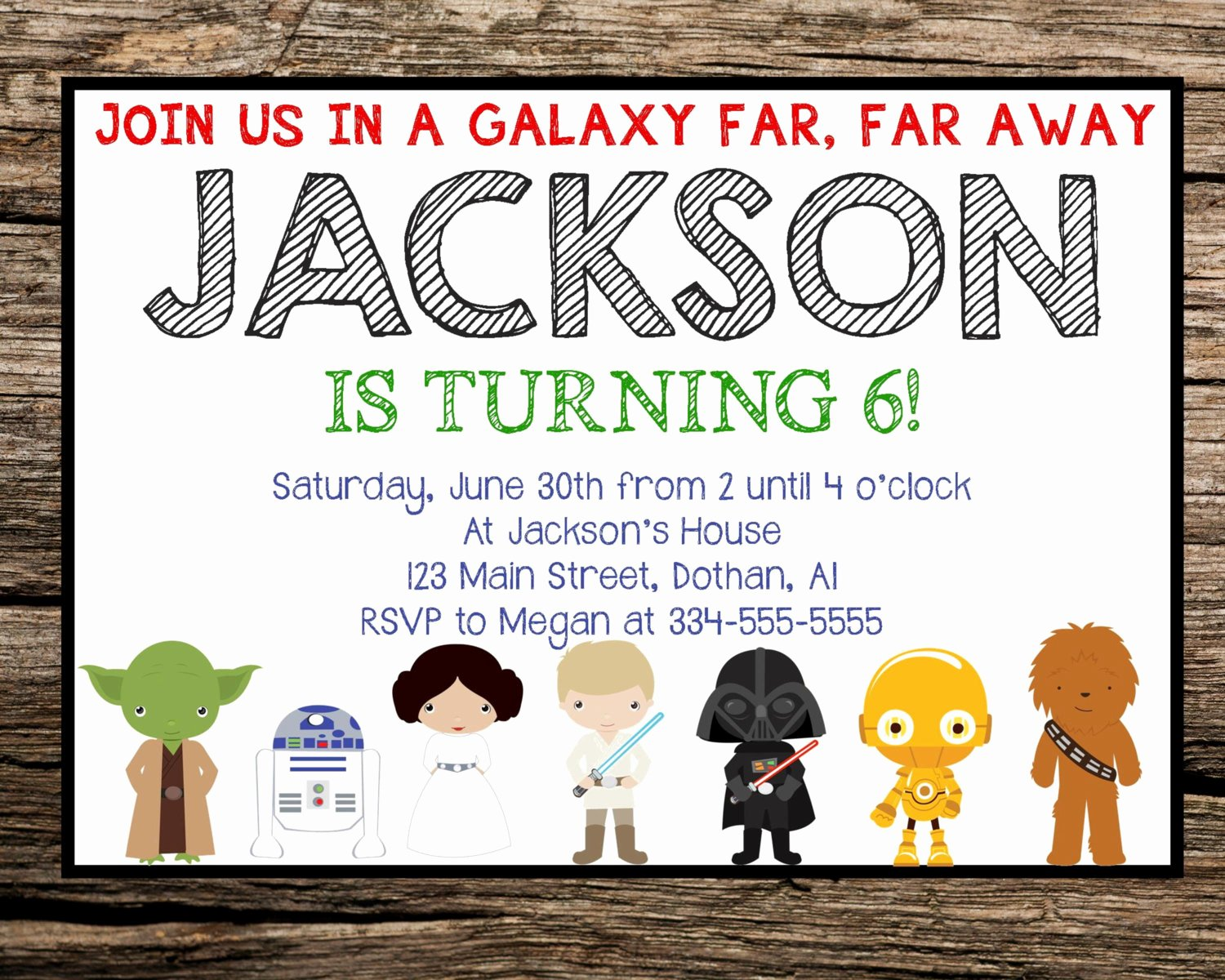 Star Wars Birthday Party Invitation Fresh Star Wars Invitation Star Wars Birthday Invitation by Mkellydesign