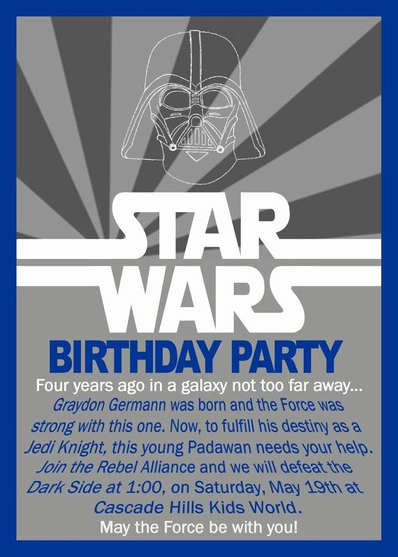Star Wars Birthday Party Invitation Lovely Star Wars Birthday Invitation by Grayciousdesigns On Etsy $10 00
