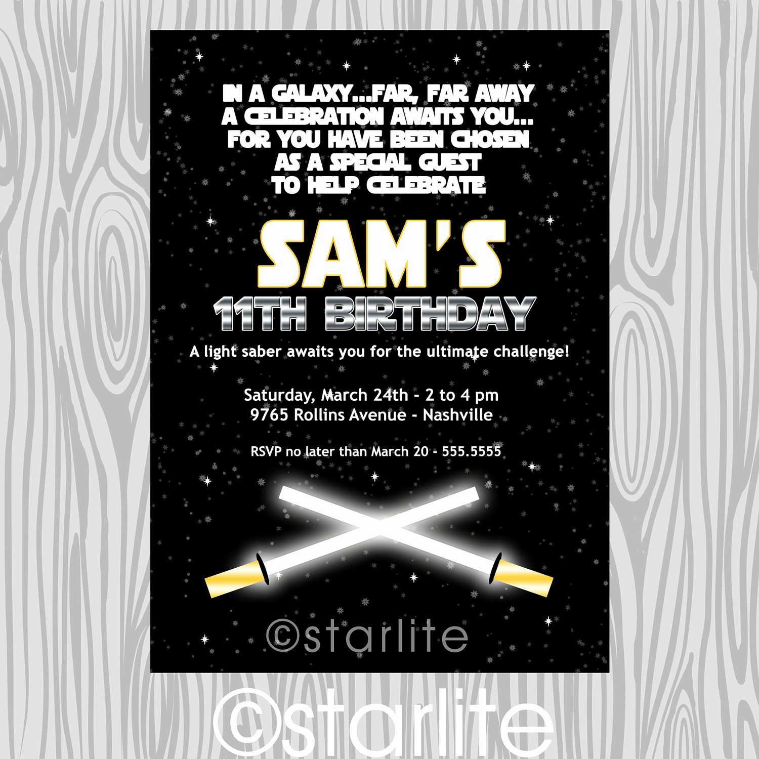 Star Wars Birthday Party Invitation Lovely Star Wars Inspired Star Wars theme Birthday Party by Starwedd