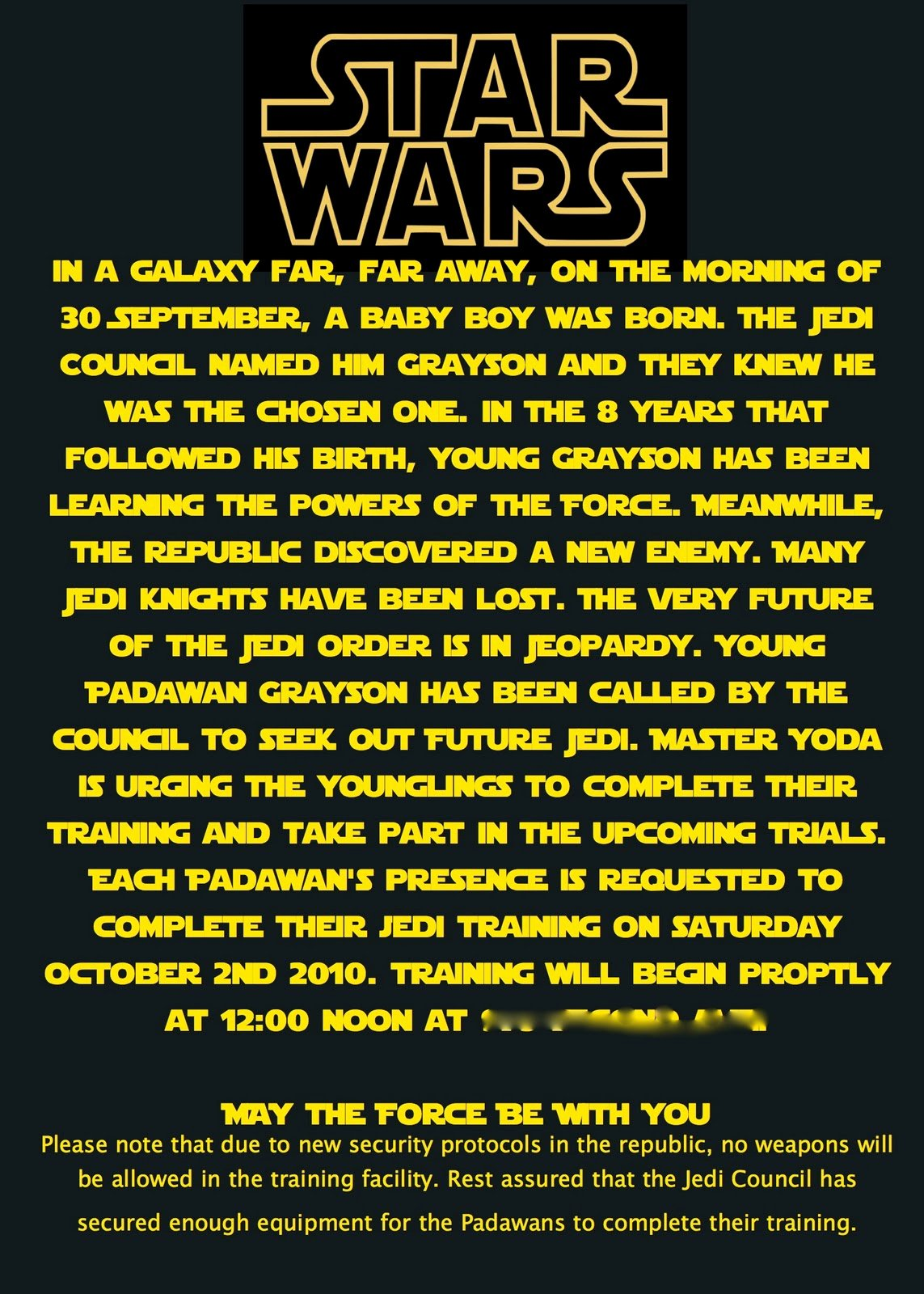 Star Wars Birthday Party Invitation New at Second Street Star Wars Party What I Did