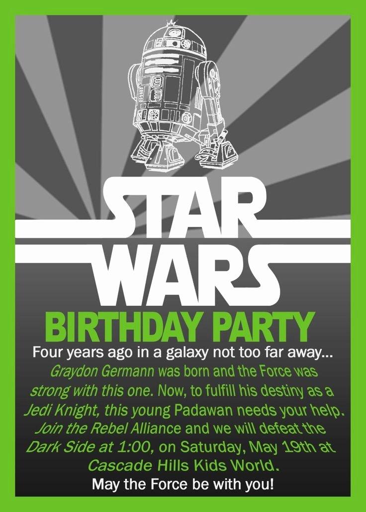 Star Wars Birthday Party Invitations Awesome Free Printable Star Wars Birthday Invitations Envytate Birthday Invitations