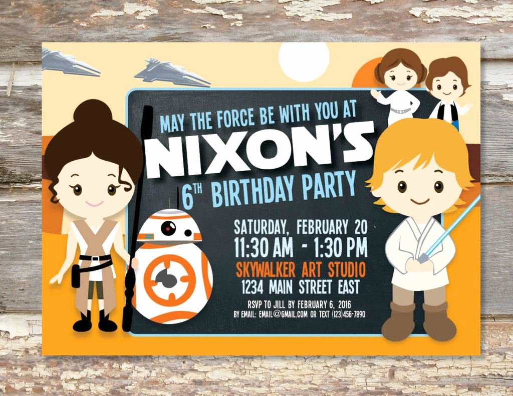 Star Wars Birthday Party Invitations Beautiful 40 Star Wars the force Awakens Birthday Party Ideas