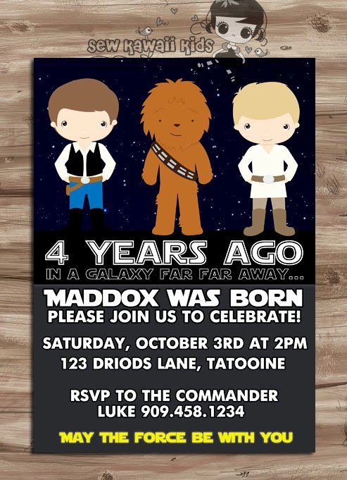 Star Wars Birthday Party Invitations Beautiful Star Wars Invite Star Wars Invite Star Wars Invitation Star