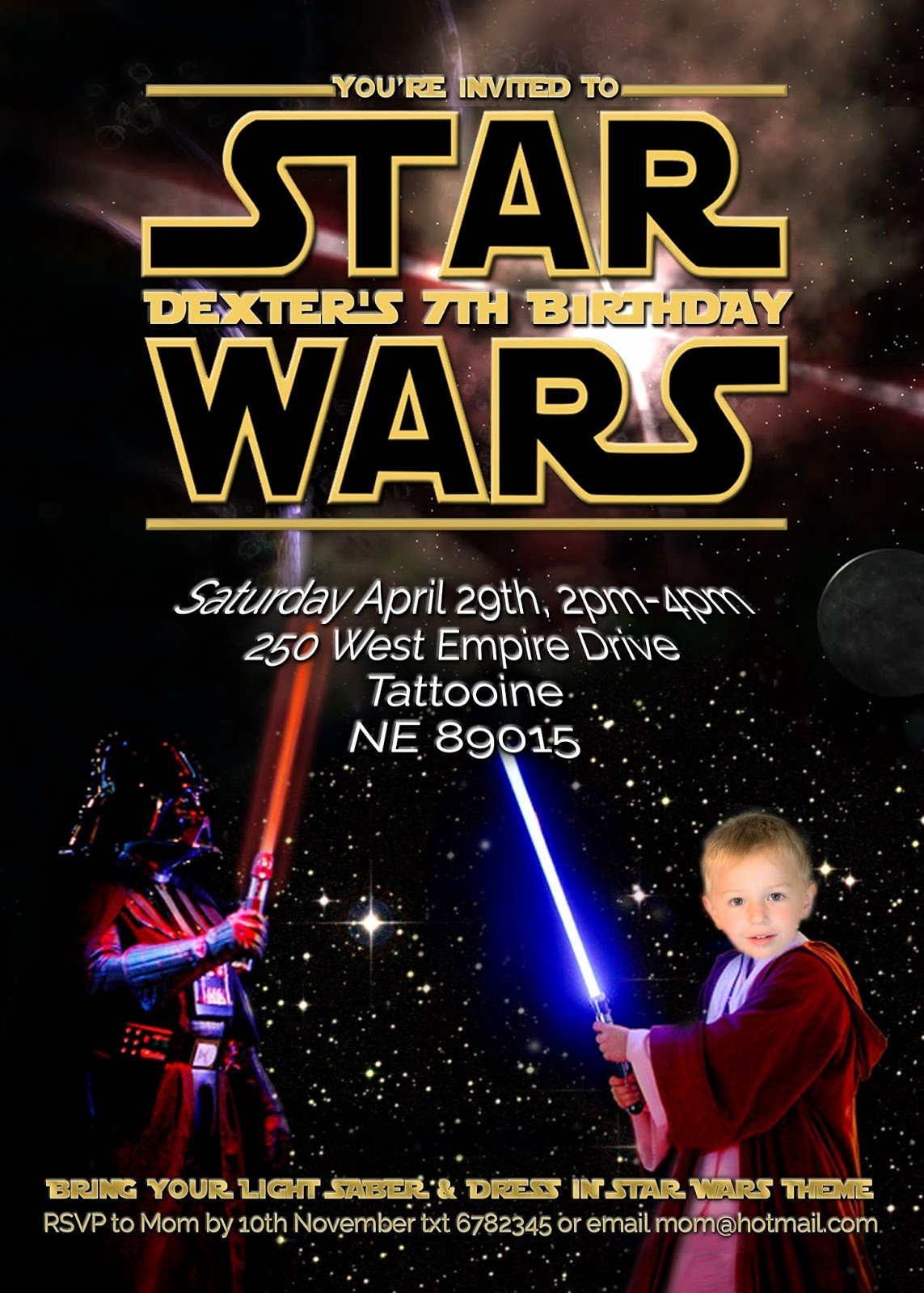 Star Wars Birthday Party Invitations Best Of Free Kids Party Invitations Star Wars Party Invitation Self Edit
