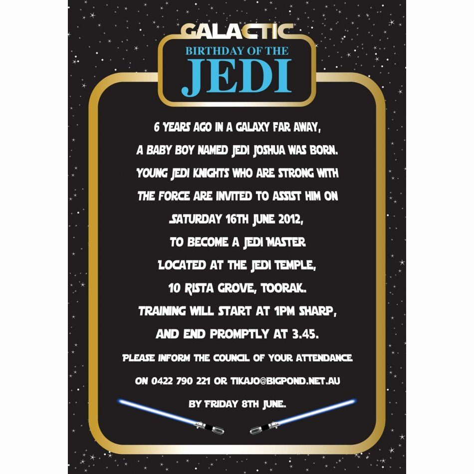 Star Wars Birthday Party Invitations Best Of Star Wars Birthday Party