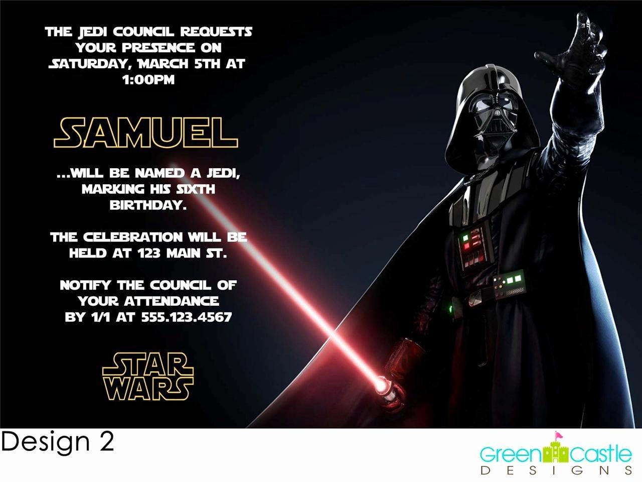 Star Wars Birthday Party Invitations Elegant Star Wars Birthday Party Invitation