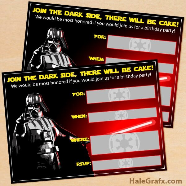 Star Wars Birthday Party Invitations Luxury the Best Star Wars Party Ideas Happiness is Homemade