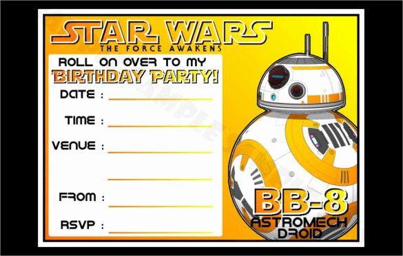 Star Wars Birthday Party Invitations New 20 Star Wars Birthday Invitation Template Word Psd Publisher