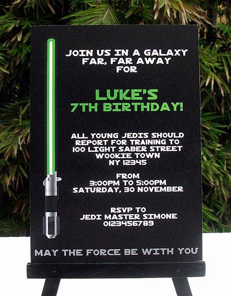 Star Wars Birthday Party Invitations New Star Wars Jedi Training Birthday Party Printables