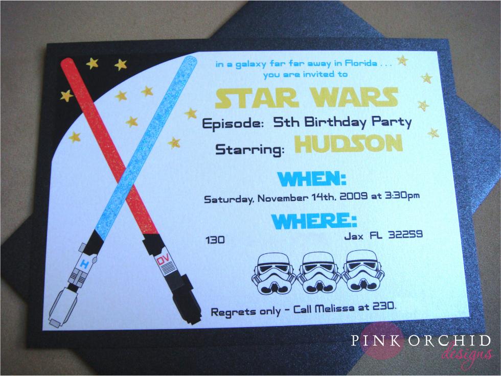 Star Wars Birthday Party Invitations Unique Star Wars Birthday Party Invitations Templates