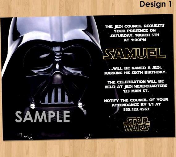 Star Wars Birthday Party Invitations Unique Star Wars Party Invitation Star Wars Party Printable Star