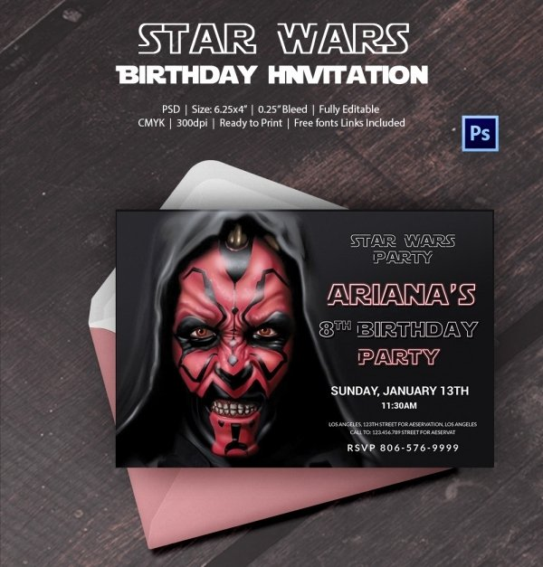 Star Wars Invitation Templates Awesome 23 Star Wars Birthday Invitation Templates – Free Sample Example format Download