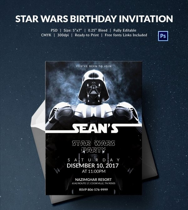 Star Wars Invitation Templates Best Of 23 Star Wars Birthday Invitation Templates – Free Sample Example format Download