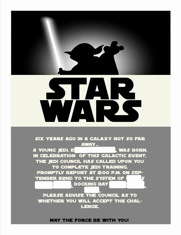 Star Wars Invitation Templates Best Of Star Wars Invitations Template Google Search Party Star Wars In 2019