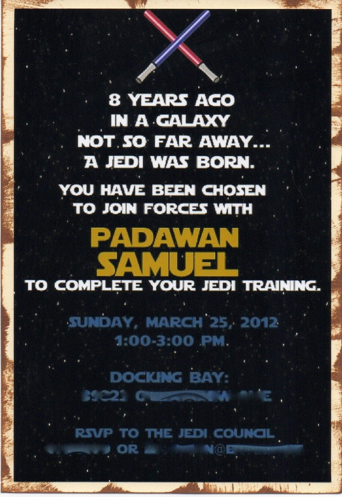 Star Wars Invitation Templates Lovely Another Babin Creation Star Wars Birthday Invitation