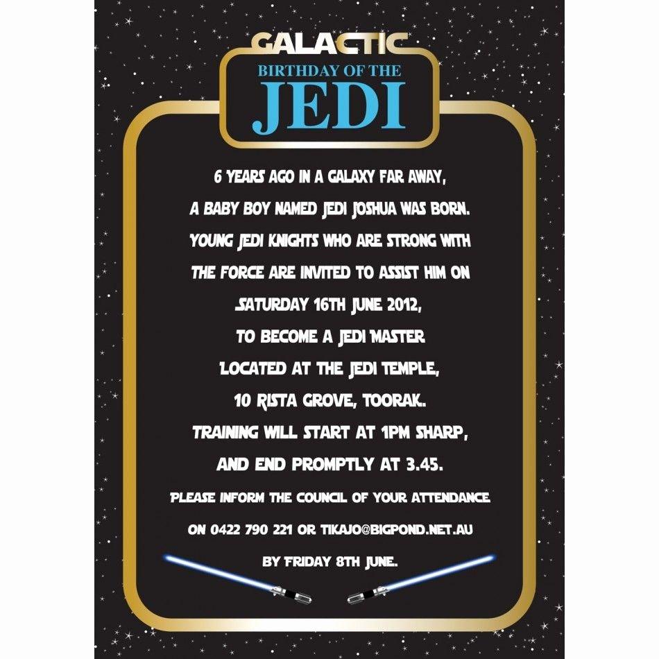 Star Wars Invitation Templates Luxury Invitation Star Wars