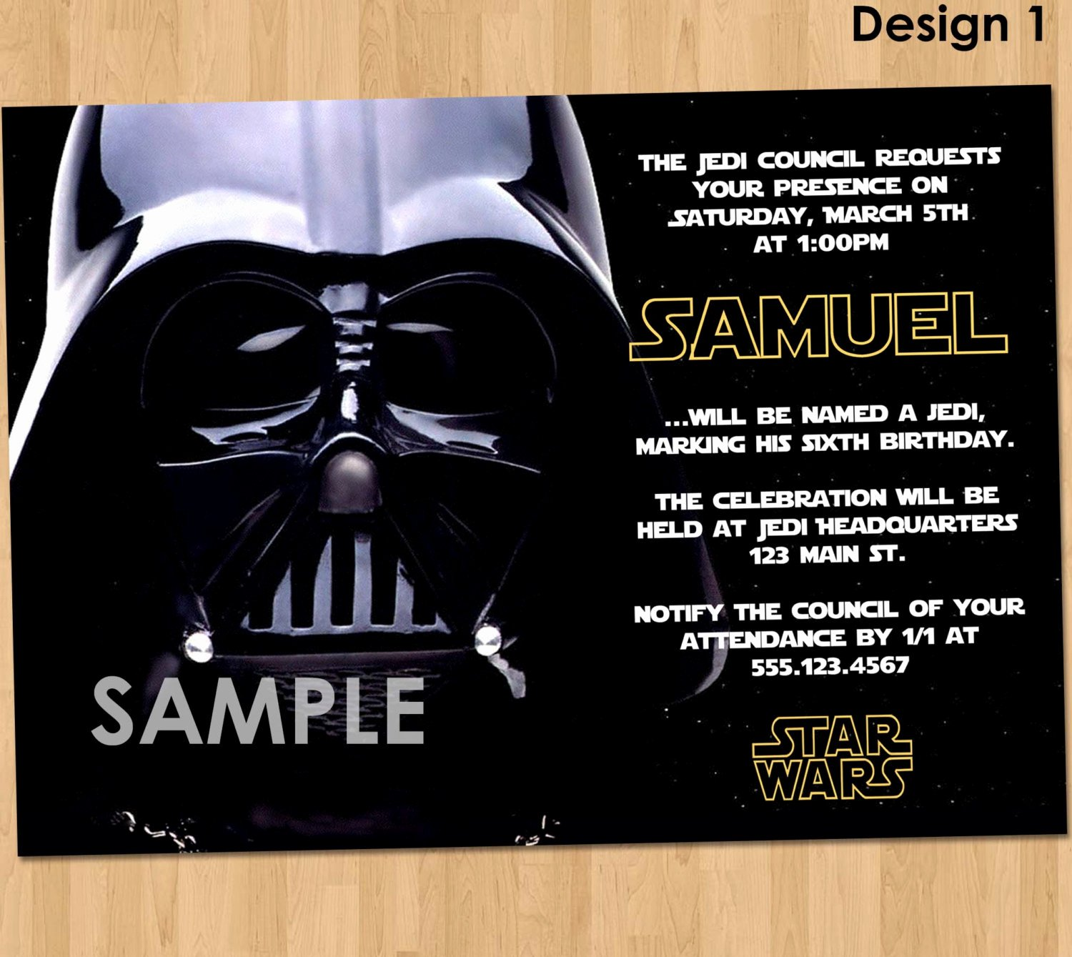 Star Wars Invitation Templates New Star Wars Party Invitation Star Wars Party Printable Star