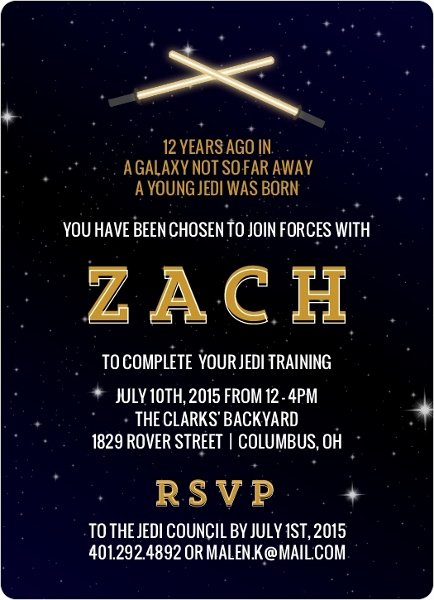 Star Wars Invitation Templates Unique 32 Amazing Star Wars Birthday Invitations