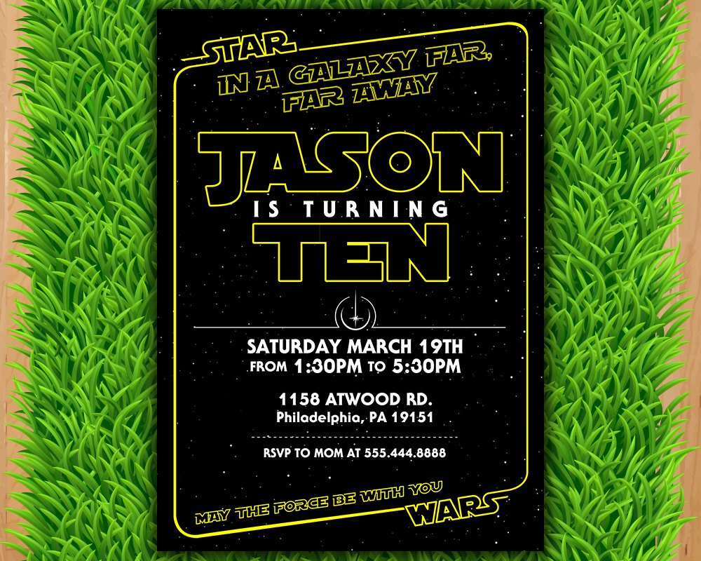 Star Wars Party Invitation Beautiful Star Wars Invitation Star Wars Party Invitation Star Wars
