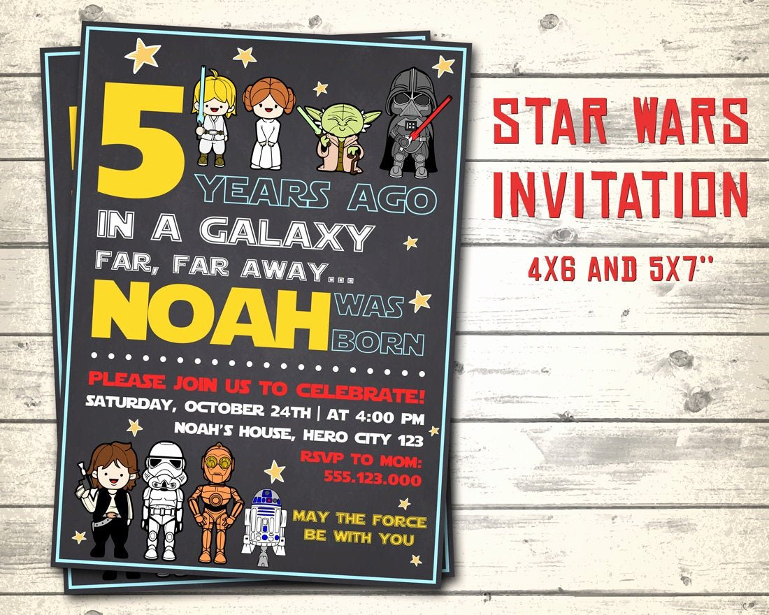 Star Wars Party Invitation Elegant Star Wars Invitation Star Wars Birthday Invitation Star Wars