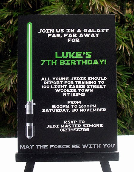 Star Wars Party Invitation Inspirational Star Wars Jedi Training Birthday Party Printables