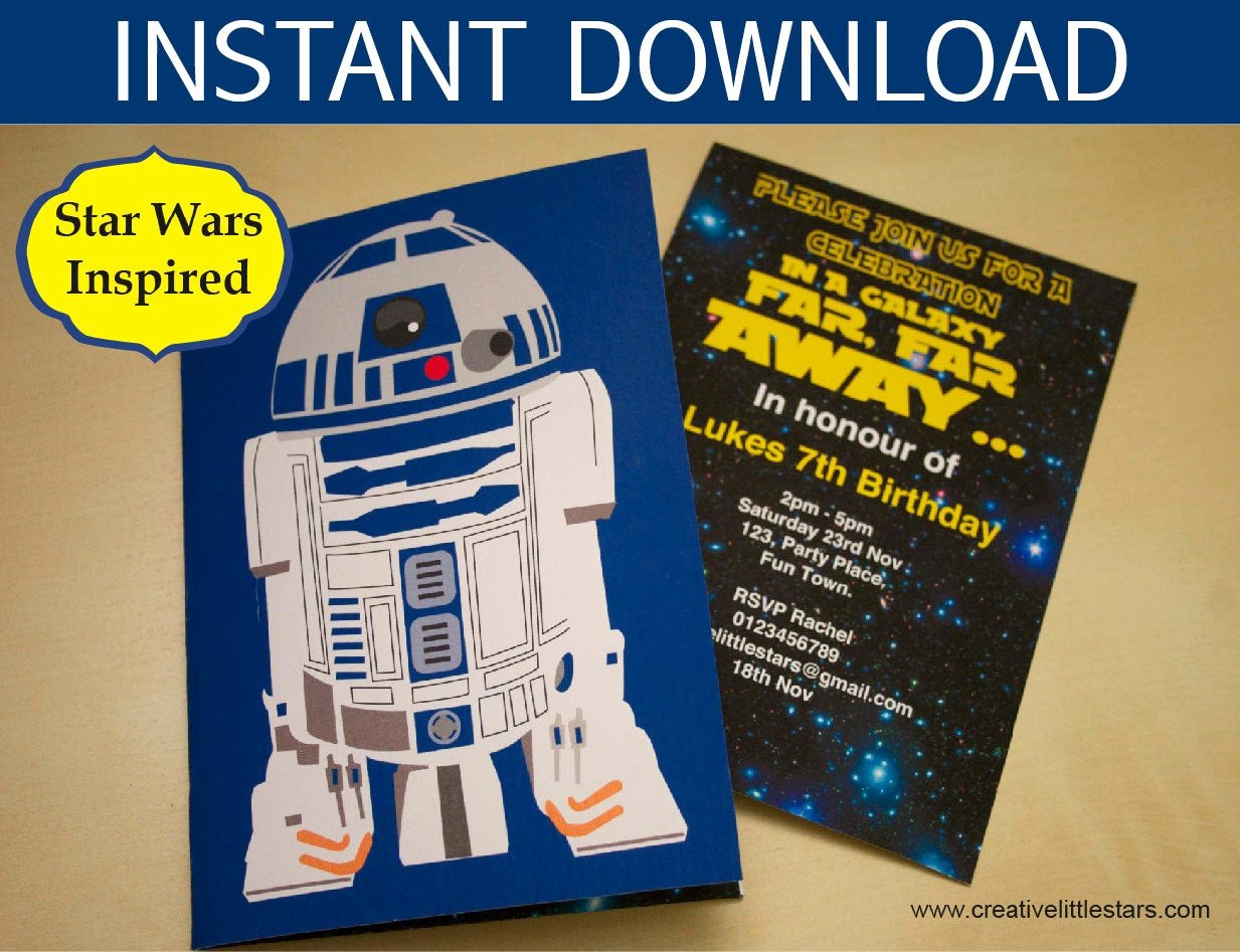 Star Wars Party Invitation Inspirational Star Wars Party Invitation Instant