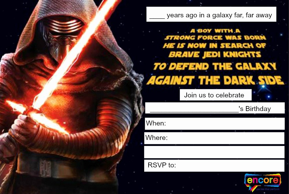 Star Wars Party Invitation Lovely Star Wars Party Invitation Free Instant Download