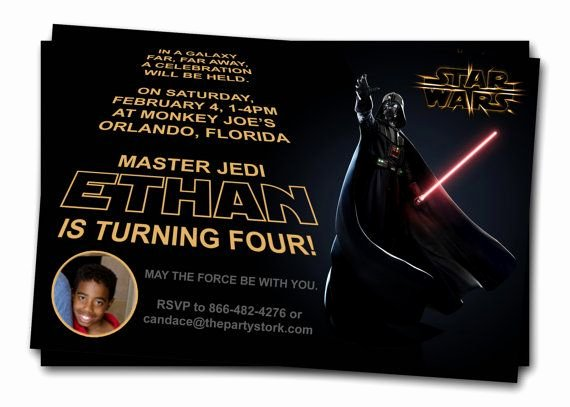 Star Wars Party Invitation New Star Wars Invitations Printable Darth Vader Boy by thepartystork Star Wars Party