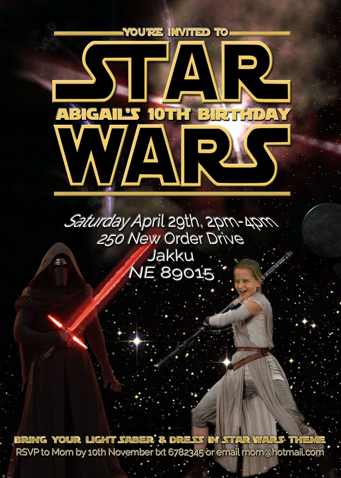 Star Wars Party Invitations Beautiful Free Kids Party Invitations Star Wars Party Invitation Self Edit