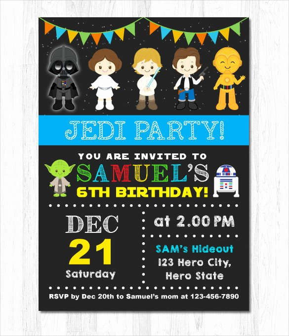 Star Wars Party Invitations Unique Free Star Wars Birthday Invitations – Free Printable Birthday Invitation Templates – Bagvania