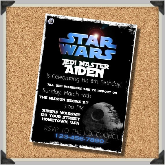 Star Wars Personalized Birthday Invitations Beautiful Unavailable Listing On Etsy