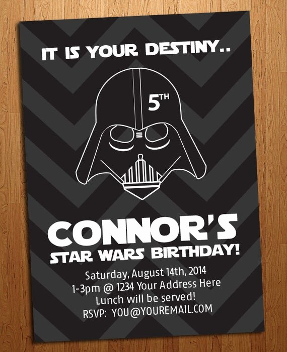Star Wars Personalized Birthday Invitations Elegant Star Wars Birthday Party Invitation