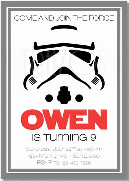 Star Wars Personalized Birthday Invitations Lovely the Best Star Wars Birthday Invitations by A Pro Party Planner