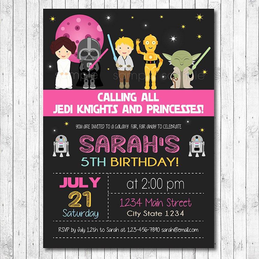 Stars Wars Birthday Invitations Inspirational Star Wars Birthday Invitation Star Wars Invite Star Wars